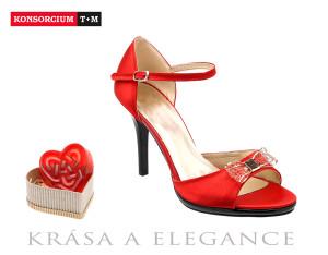 červená dámská obuv