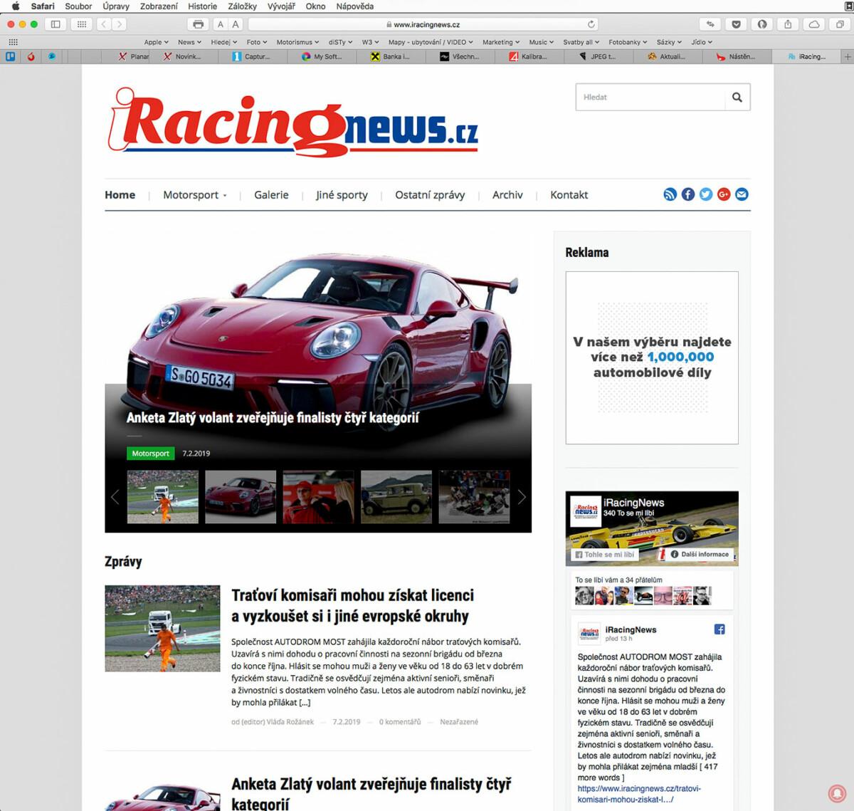 Motoristický internetový magazín iRacingNews.cz