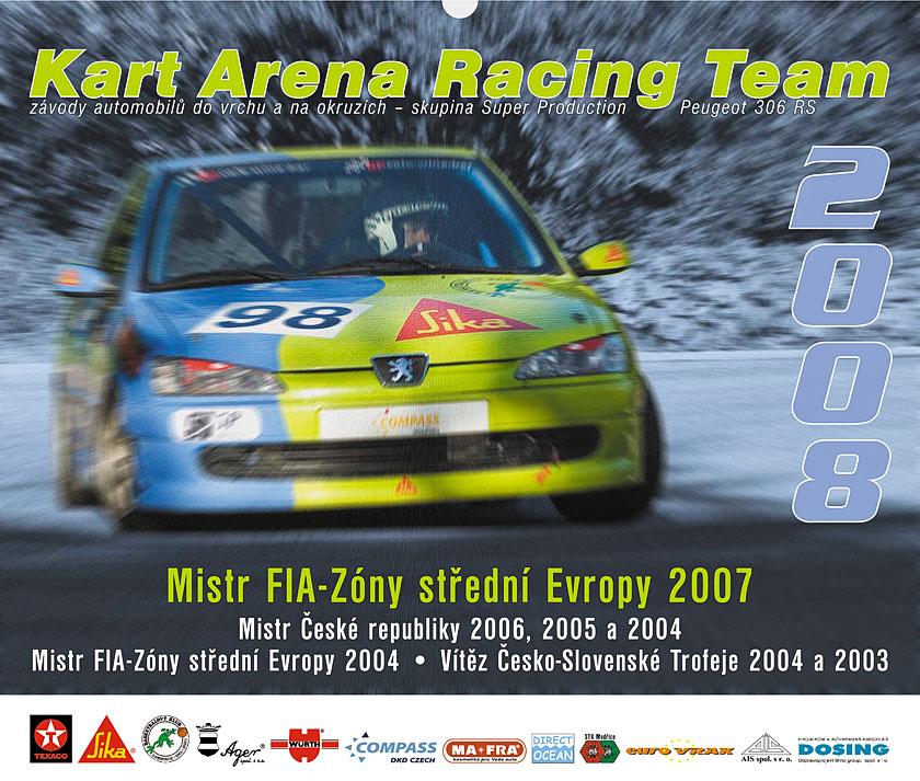 Nástěnný kalendář Kart Arena Racing Teamu 2008