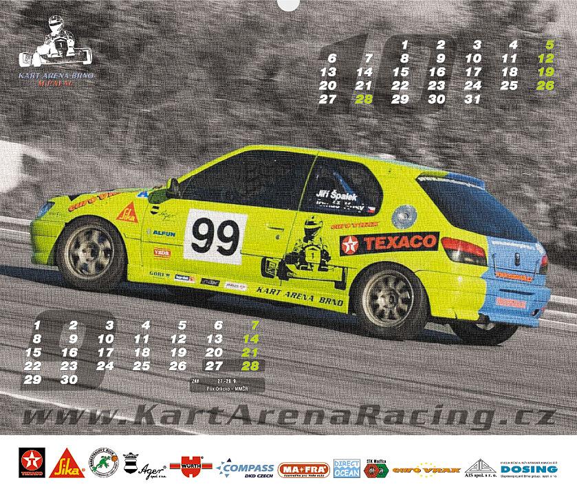 Kalendář Kart Arena Racing Teamu 2008