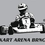 Černobílá barevná verze logotypu KART ARENA BRNO