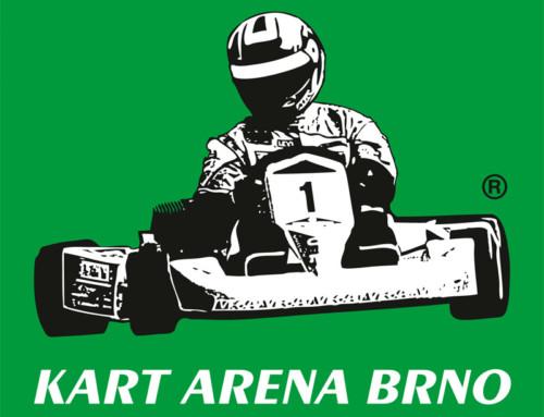 Logotyp KART ARENA BRNO – krytá motokárová dráha