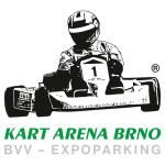 Barevná verze logotypu KART ARENA BRNO s doplněním místa