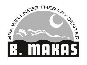 Černobílá verze logotypu B.Makas