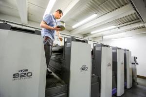 Ofsetový tiskový stroj japonské značky Ryobi