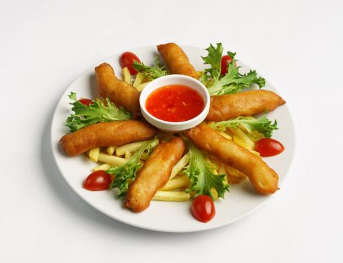 Jídla asijské restaurace – produktová fotografie