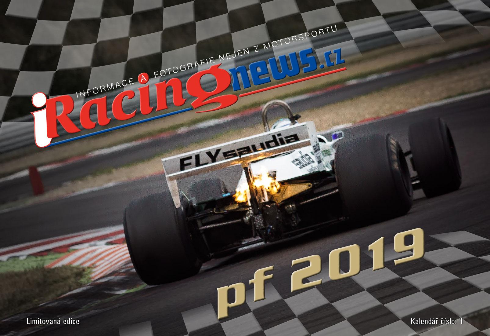 """Nástěnný kalendář """"Historic Formula One 2019"""""""