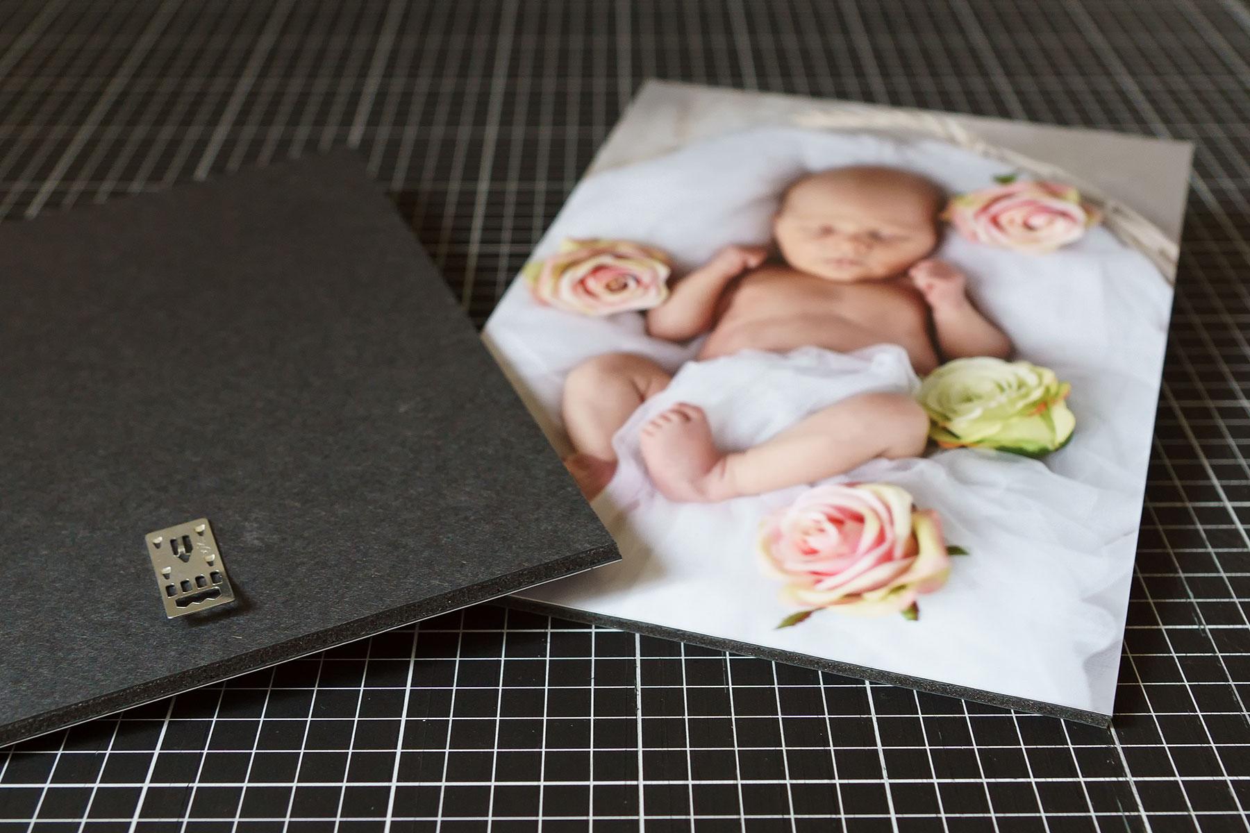 Laminovaná fotografie adjustovaná na Gata desku